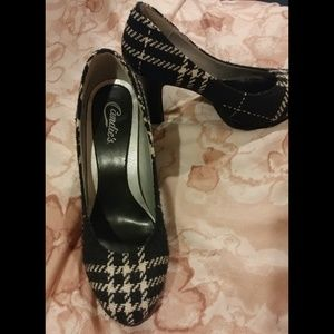 Candie's houndstooth high heels